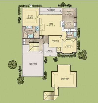Harmon w/ Bonus floorplan
