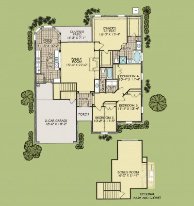 Jefferson w/ bonus floorplan