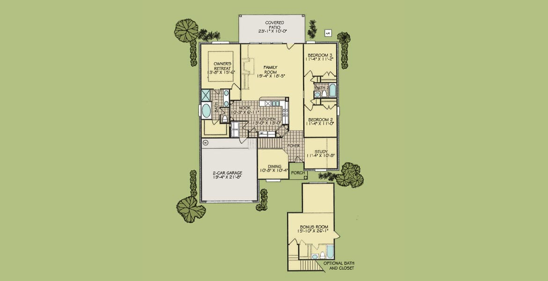 Tiara Bonus floorplan